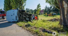 Wypadek w Chełstówku - interweniował śmigłowiec LPR - VIDEO