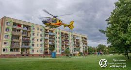 Śmigłowiec Lotniczego Pogotowia Ratunkowego na Serbinowie - VIDEO