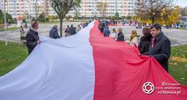 99 metrowa flaga na pl. Zwycięstwa - VIDEO