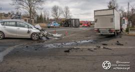 Kolizja 3 aut w Drołtowicach - VIDEO