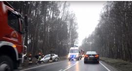 Wypadek na DK25 - VIDEO