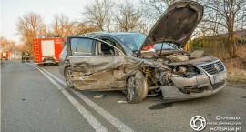 Wypadek koło Świerznej - sprawca miał prawie 3 promile - FOTO - VIDEO