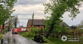 Wczorajsza burza nad powiatem oleśnickim