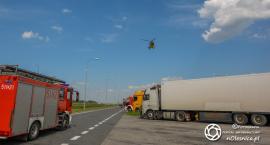 Lądowanie śmigłowca na MOP Jonas - trasa S8 - brak wolnej karetki