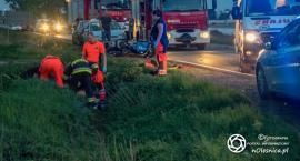 Wypadek dwóch motocyklistów koło Dąbrowy - FOTO - VIDEO