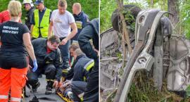 Wypadek koło Posadowic - VIDEO