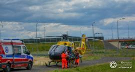Śmigłowiec LPR lądował w Dąbrowie - VIDEO