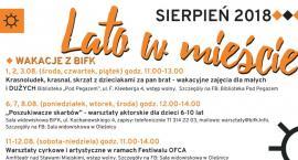 Lato w mieście - propozycje BiFK na sierpień