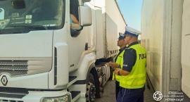 Oleśnicka drogówka kontroluje cieżarówki