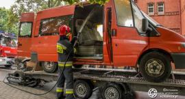 Pożar busa na ul. Wojska Polskiego