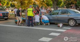 Potrącenie rowerzystki na ul. Skłodowskiej
