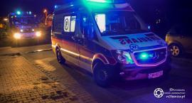 Strażacy reanimowali mężczyznę po upadku z drabiny