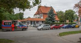 Kolizja czterech aut na Skłodowskiej - jedna osoba wymagała pomocy medycznej