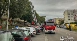 Interwencja strażaków na Skłodowskiej