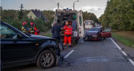 Czołowe zderzenie aut w Sokołowicach - VIDEO