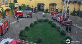 Strażackie ćwiczenia w Zamku