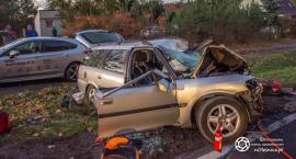Tragiczny wypadek w Sokołowicach - ciężarówka i auto osobowe - kierowca nie żyje