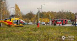 Wybuch na stacji paliw w Cieślach - interweniował LPR - VIDEO
