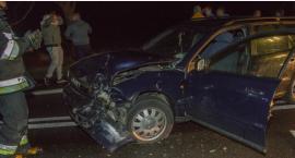 Wypadek trzech aut na Krzywoustego