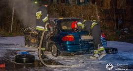 Pożar samochodu osobowego na Wojska Polskiego