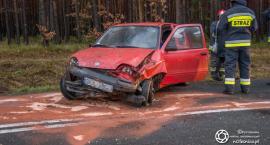 Wypadek Fiata koło Miodar