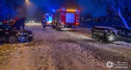 Wypadek dwóch osobówek w Miodarach