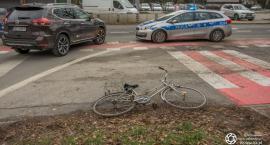 Potrącenie rowerzysty na Wojska Polskiego