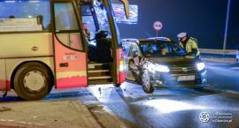 Kolizja autobusu i osobówki