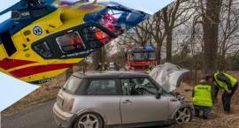 Wypadek koło Domasławic - interweniował LPR