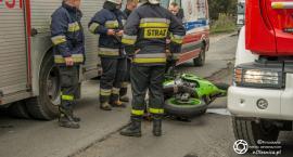 Wypadek motocyklisty w Bierutowie