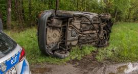 Wypadek na DK25 koło Ostrowiny