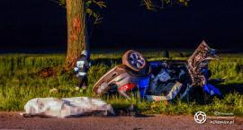 Śmiertelny wypadek koło Gaszowic. Nie żyje 21 - latek z Oleśnicy, kierował bez uprawnień