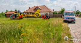 Lądowanie śmigłowca LPR w Bierutowie - VIDEO