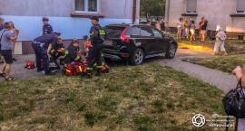 Wypadek na rondzie Sudoła - Krzywoustego - dwie osoby trafiły do szpitala