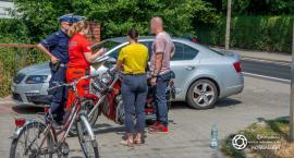 Kolizja rowerzysty z motocyklistą