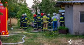 Pożar poddasza domu w Sokołowicach