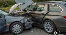 Wypadek koło Ambera - zderzyły się dwa auta
