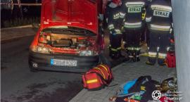 Groźny wypadek z udziałem motocyklisty na granicy powiatów