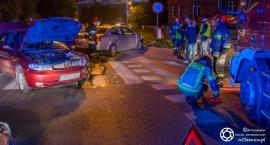 Kolizja dwóch aut na Wojska Polskiego - kierowca nietrzeźwy