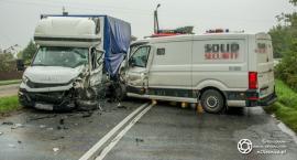 Wypadek na drodzę pomiędzy Sycowem a Ślizowem - interweniuje LPR - VIDEO