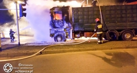 Pożar samochodu ciężarowego na Klonowej - FOTO - VIDEO