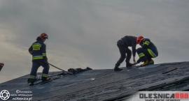 Pożar budynku w Boguszycach