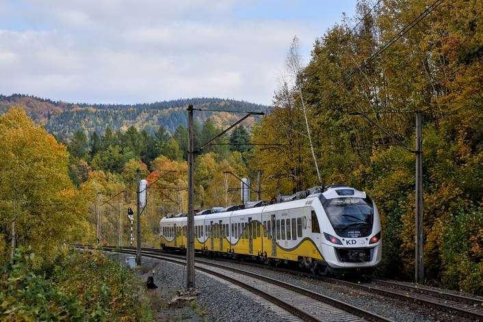 Komunikacja, nowych pociągów Kolei Dolnośląskich - zdjęcie, fotografia