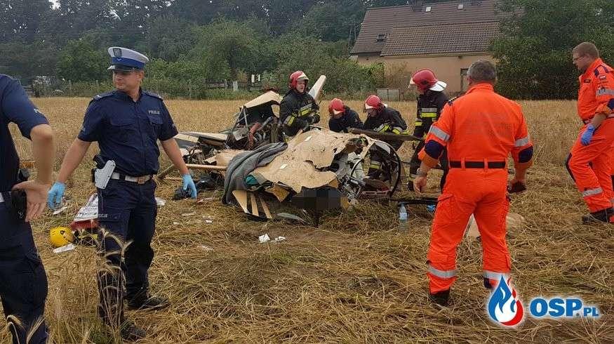 Wypadki drogowe, Katastrofa śmigłowca Opolem - zdjęcie, fotografia