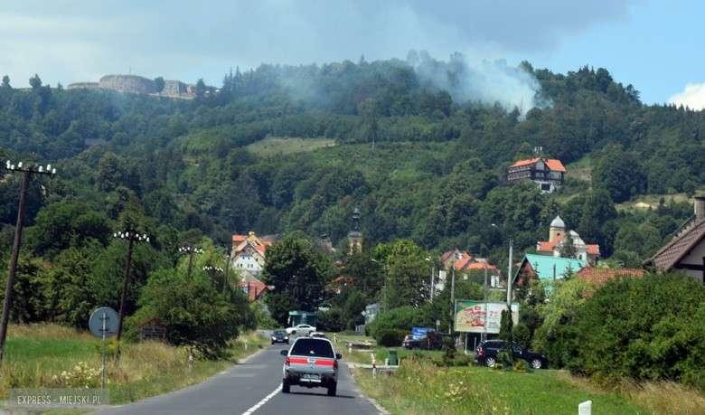 Pożary, Pożar wokół twierdzy Srebrna Góra - zdjęcie, fotografia