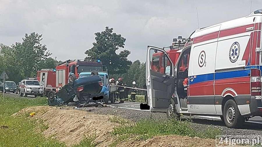 Wypadki drogowe, Tragiczny wypadek Jelenią Górą - zdjęcie, fotografia