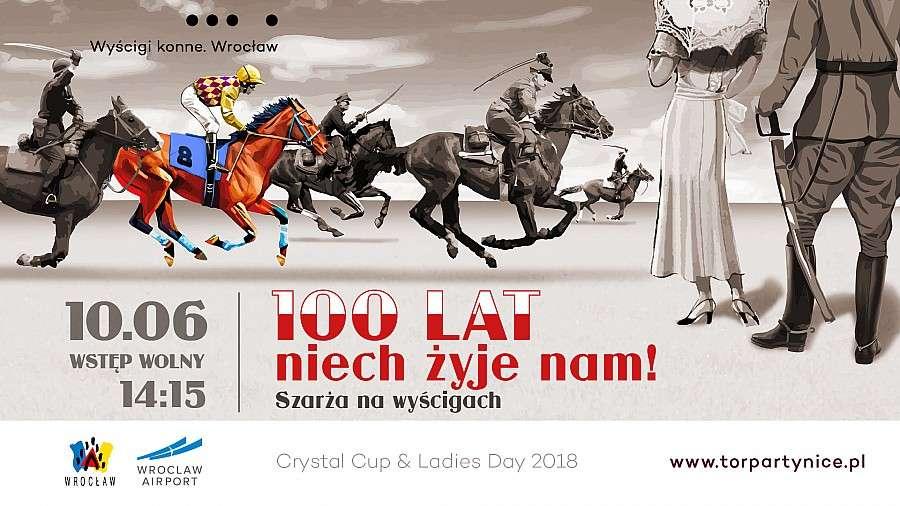 Event, Szarża ułańska Crystal Ladies niepodległości Wrocławskim Torze Wyścigów - zdjęcie, fotografia