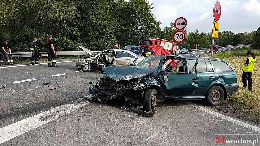 Wypadki drogowe, Śmierć drodze Wrocław Kłodzko - zdjęcie, fotografia