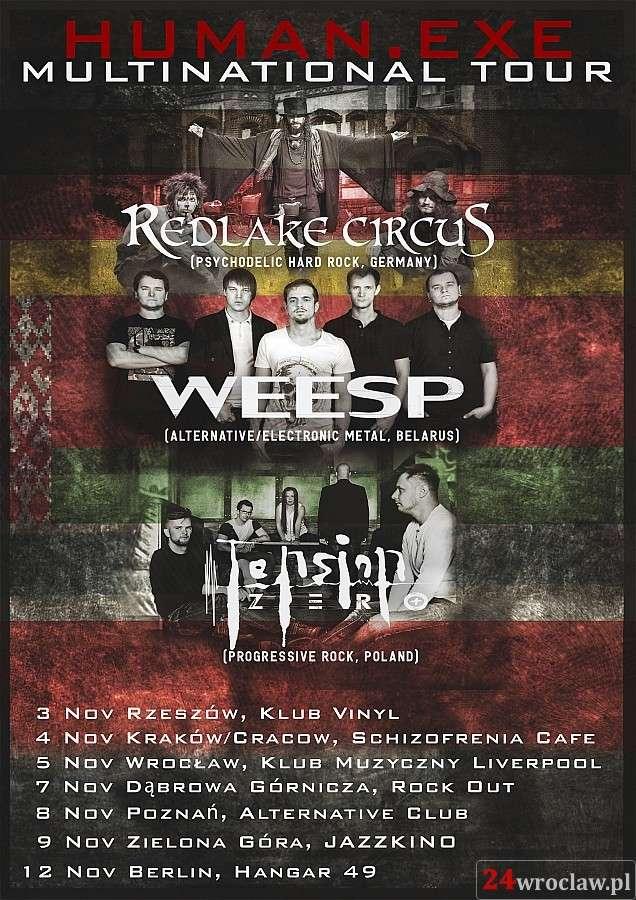 "24wroclaw, Koncert ""Human exe"" Multinational Weesp (BLR) Tension Redlake Circus (GER) - zdjęcie, fotografia"