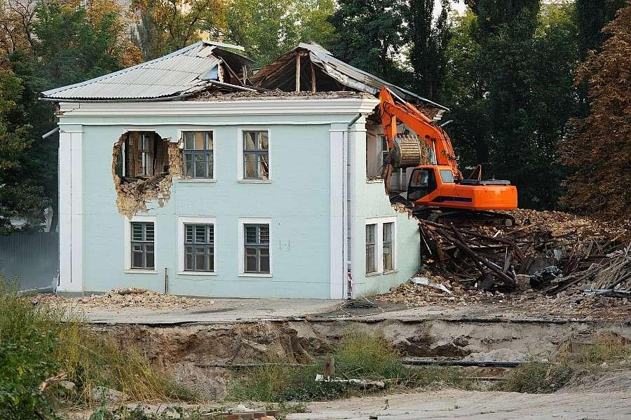 24wroclaw, zabrać rozbiórkę budynku - zdjęcie, fotografia